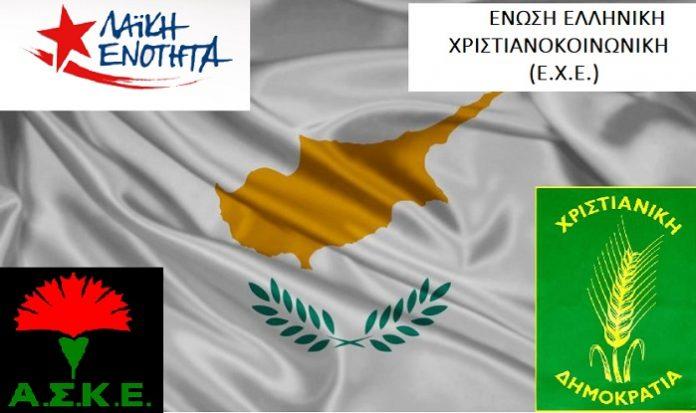 Κόμματα και οργανώσεις υπογράφουν κείμενο-έκκληση για την Κύπρο